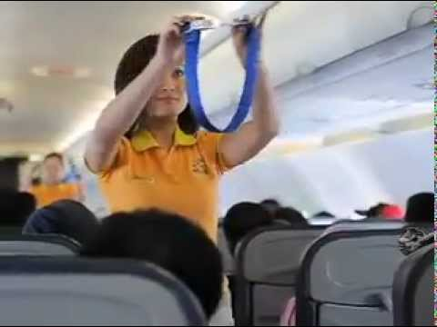 Sexy Air Hostesses Dancing The Cebu Pacific Safety Dance - MTV version (видео)