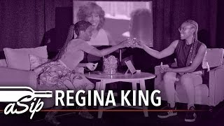 """Hosted by Issa Rae, """"A Sip"""" is an unscripted, intimate fireside chat over drinks with creatives we are inspired by. In this installment, Emmy-Award winning actress, director, and producer, Regina King, sips and spills tea about her experience in the industry."""