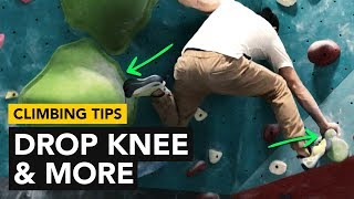 Rock Climbing Tips: Using a Drop Knee to climb this bouldering problem by  rockentry