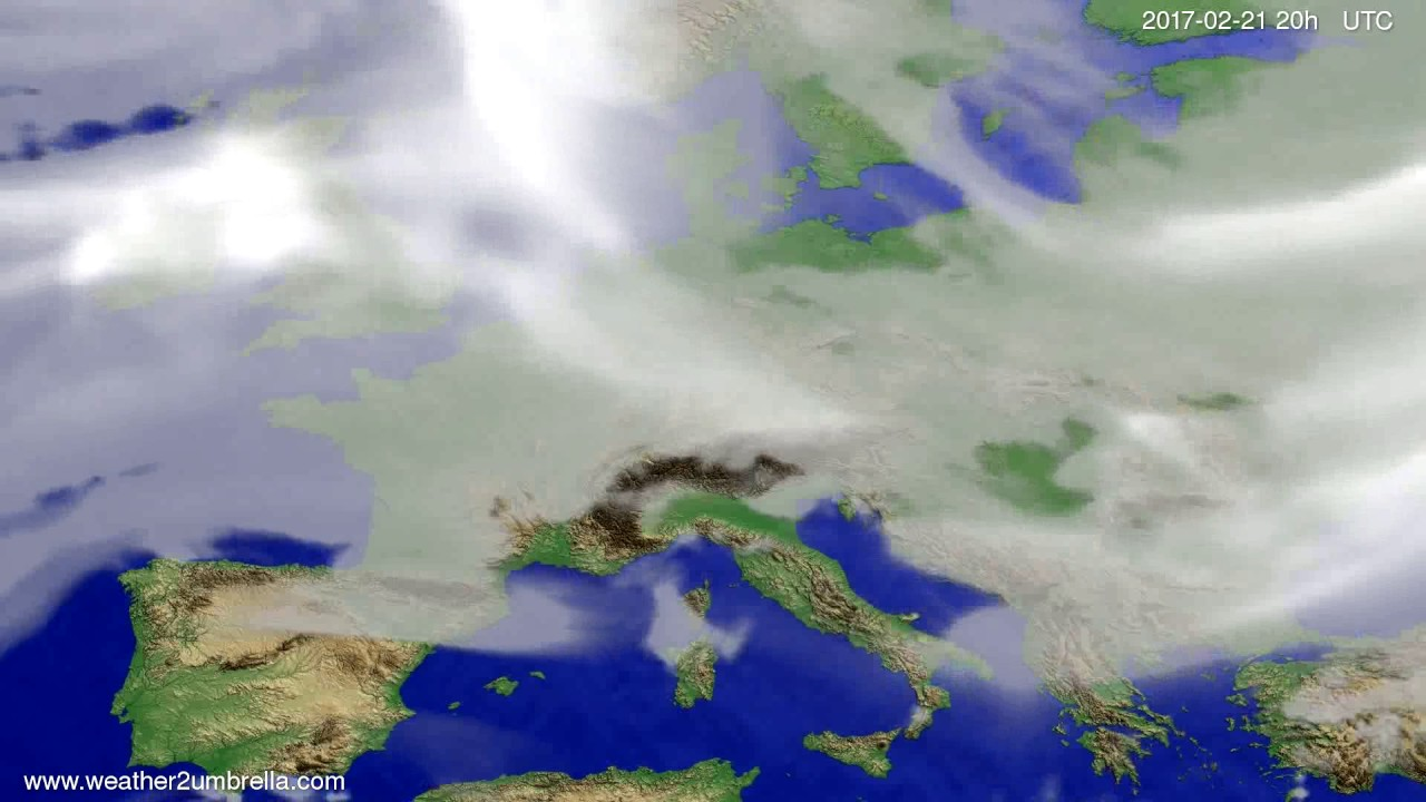 Cloud forecast Europe 2017-02-19