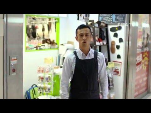 Former Japanese footballer and I-League star Ryuji Sueoka fixes boots for Indian kids