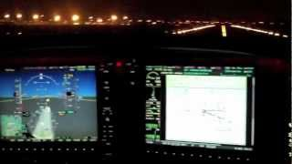 ILS Night Approach In Cirrus SR22 Turbo With Garmin Perspective @ EBAW