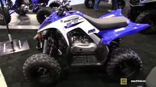 10. 2016 Yamaha Raptor 90 Sport ATV - Walkaround - 2015 St Hyacinthe ATV Show