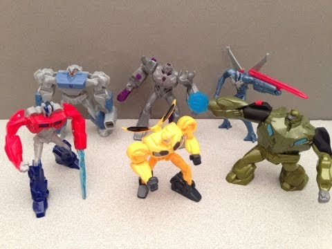 MCDONALDS TRANSFORMERS PRIME HAPPY MEAL TOYS – 2013 FULL SET REVIEW