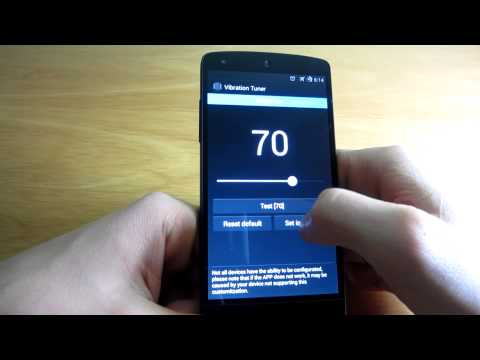 Video of Vibration Config, Nexus 4 & 5