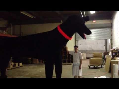 18-foot Stuffed Dog Custom Made in the USA Big Plush Toy Manufacturer Giant Stuffed Animals