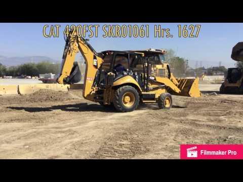 CATERPILLAR RETROESCAVADEIRAS 420FST equipment video hCIjZ1rfits