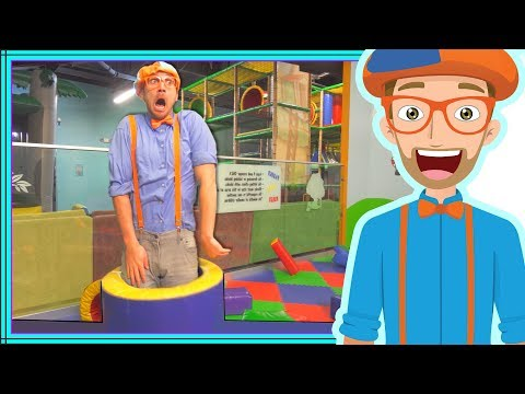 Blippi Playing at a Play Place | Learning about Colors and Muscles for Kids (видео)