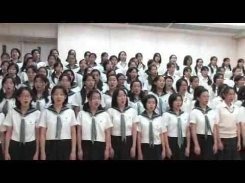 大妻中野中学校・高等学校 校歌合唱