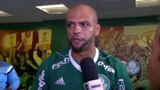 Entrevista Polemica de Felipe Melo Após o Jogo Palmeiras e Penarol Me chamaram de macaco, Felipe Mello diz que mulher de jogador do Penarol estava ...