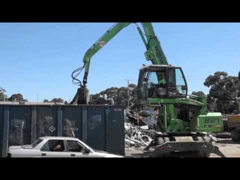 Scrap handler loading bin