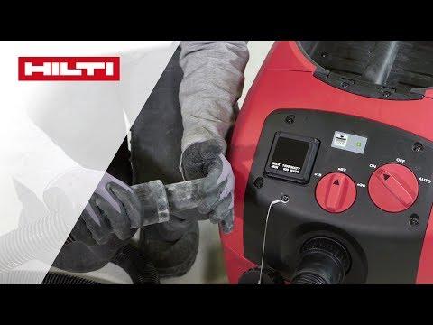INTRODUZIONE dell'aspiratore Hilti VC 40 & VC 5 (filtro standard)