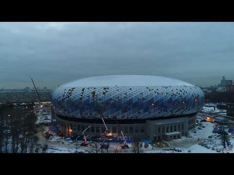 Ход строительства стадиона «Динамо» им.Льва Яшина