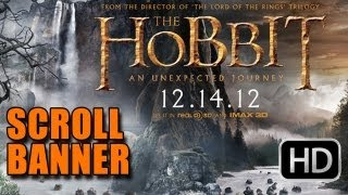 The Hobbit An Unexpected Journey Scroll Banner - Comic-Con 2012