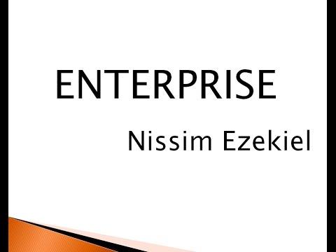 nissim ezekiels enterprise essay