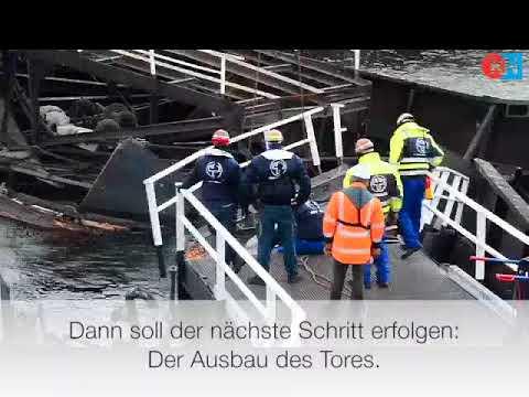 Schleusentor in Kiel-Holtenau wird geborgen