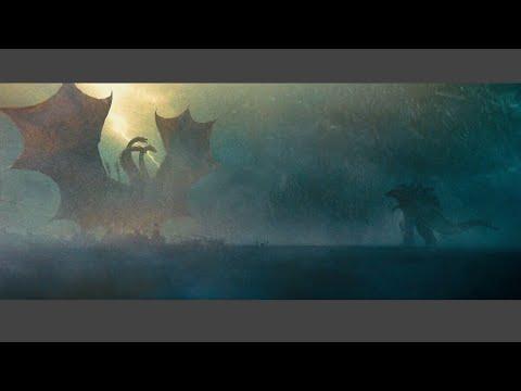 Ghidorah and Godzilla Arctic Fight Scene