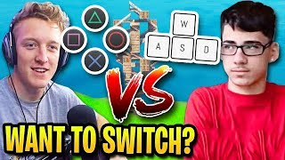 Tfue on CONTROLLER vs FaZe Sway on KEYBOARD in 1v1 on Fortnite...