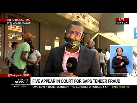 SAPS tender fraud suspects appear in the Pretoria Magistrates Court
