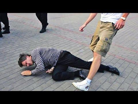 Куда бить ногами в уличной драке / Почему нельзя бить в голову - DomaVideo.Ru