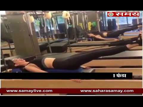 Video: Deepika Padukone doing exercise