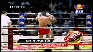 International Khmer Boxing On Bayon TV On 25 Oct 2013 Phya Sua Dun Sor Somkid VS Phann Kraon