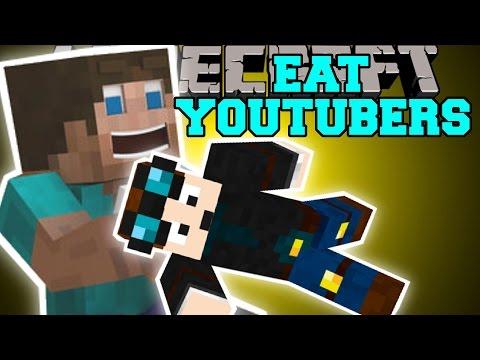 Minecraft: EAT YOUTUBERS MOD (THEDIAMONDMINECART, SKYDOESMINECRAFT, & SSUNDEE) Mod Showcase