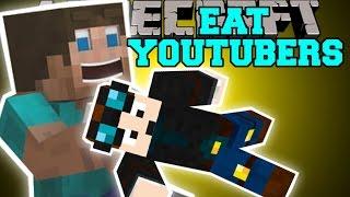 Minecraft: EAT YOUTUBERS MOD (THEDIAMONDMINECART, SKYDOESMINECRAFT,&SSUNDEE) Mod Showcase