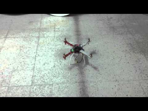 First flight of my quadcopter based on ATMEGA328