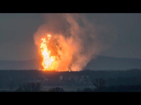 У мережі з'явилося відео моменту вибуху на газовому хабі в Австрії