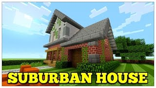 Minecraft: How To Build A Suburban House | Small Survival House | Tutorial