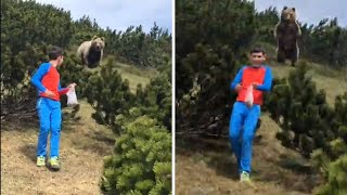 video: Italian boy shows calm and courage during encounter with wild bear in Dolomites
