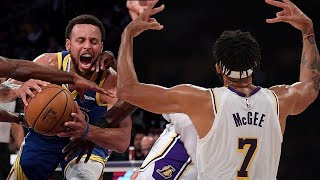 JaVale McGee FAKES Injury To Get Open For Dunk As Lakers EMBARRASS Warriors In Preseason Game by Obsev Sports