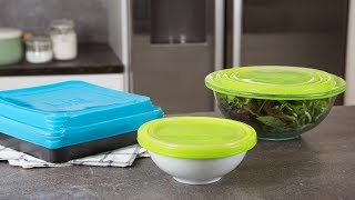 https://www.thegrommet.com/lidloverPatricia Anthony channeled her frustration with lost, melted, and worn-out lids into designing her own multi-tasking bowl covers. Her silicone designs are stretchy, reversible, and fit most bowls, plates, mugs, and containers. The lids are made from BPA-free, food-safe silicone, and have a unique triple-ring sealing rim that lets them accommodate different dish sizes. There's even a version for baking dishes, too. And these lids do a lot more than cover leftovers. They can go in the dishwasher, microwave, and even the oven. The round lids double as a pot holder, work as a placemat in the microwave, or give mixing bowls a non-skid surface. You can even write on a lid with a dry erase marker to identify what's inside. Patricia's solution is a new kitchen essential you'll use over and over.