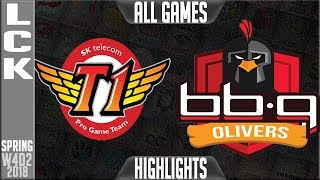 Video SKT vs BBQ Highlights ALL GAMES | LCK Week 4 Spring 2018 W4D2 | SKT T1 vs BBQ Olivers Highlights MP3, 3GP, MP4, WEBM, AVI, FLV Agustus 2018