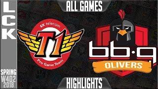 Video SKT vs BBQ Highlights ALL GAMES | LCK Week 4 Spring 2018 W4D2 | SKT T1 vs BBQ Olivers Highlights MP3, 3GP, MP4, WEBM, AVI, FLV Juni 2018