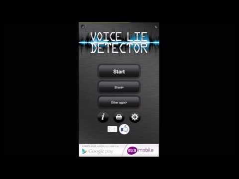 Video of Voice Lie Detector