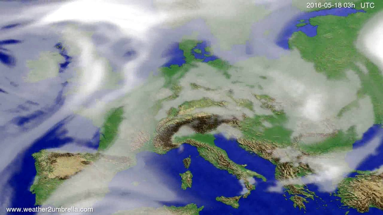 Cloud forecast Europe 2016-05-15
