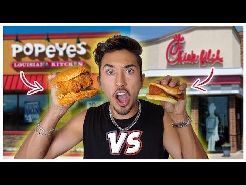 Popeyes VS Chik fil A Chicken Sandwich *Who's is Better?* (TASTE TEST)
