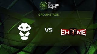 EHOME vs AD FINEM, Game 2, Group D - The Boston Major