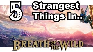 The 5 Strangest Things in Zelda: Breath of the WildTime to take a look at The 5 Strangest Things in The Legend of Zelda: Breath of the Wild. Those little quirks that really stand out.If it's not obvious, this video is a joke and not meant to be taken seriously. I'm not Jim Sterling, son. I loved Breath of the Wild. (Though, totally cool if he had issues with it). Music List:0:00 - Zelda: Breath of the Wild - Molduga Battle0:02 - Zelda: A Link to the Past - Dark World Dungeon0:07 - Zelda: A Link to the Past  - Battle with Ganon0:18 - Bloodborne - Amygdala0:28 - Legend of Mana - Southern City Polpota0:35 - Zelda: Breath of the Wild - Mamono Shop0:49 - Diddy Kong Racing - Greenwood Village1:10 - Zelda: Breath of the Wild - Zora's Domain1:40 - Zelda: Breath of the Wild - Prince Zora Sidon1:48 - Kevin MacLeod (incompetech) - Winner Winner1:59 - Breath of Fire II - Overworld2:05 - Zelda: Majora's Mask - Dawn of the first day2:09 - Zelda: A Link to the Past - Dark World2:35 - Silent Partner - Present Standard2:50 - Kevin MacLeod (incompetech) - Quirky Dog3:15 - Earthbound - Hi Hi Hi3:22 - Zelda: Breath of the Wild - Yiga Leader Kogha Battle3:58 - Kevin MacLeod (incompetech) - Undaunted4:08 - Kevin MacLeod (incompetech) - Fluffing a Duck4:28 - Secret of Mana - I Won't Forget4:58 - Zelda: Breath of the Wild - Horse Fairy5:04 - Final Fantasy VI - Dark World5:18 - Zelda: Breath of the Wild - Korok Forest