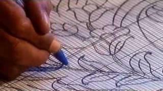 Deisgn Plate (Cartoon) - Persian Rug Making Process