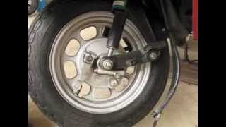9. Honda Elite CH80 How to Replace the Front Tire