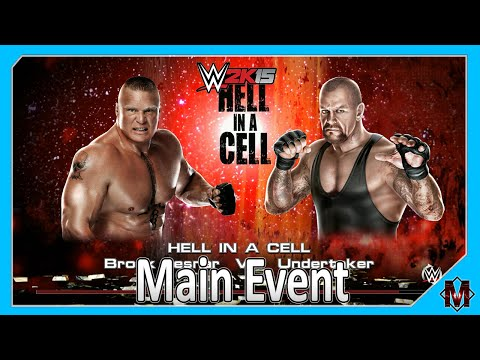 WWE 2K15 - Hell In A Cell Simulation: Undertaker Vs Brock Lesnar