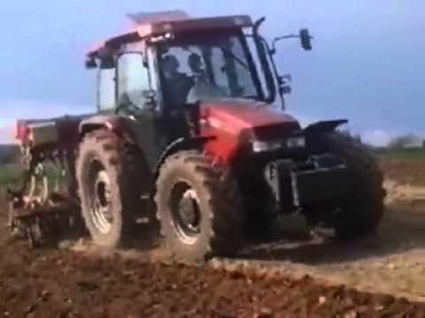 uprawa pod qq 2014 (case jx100u + agro masz 3m) cz.1 (видео)