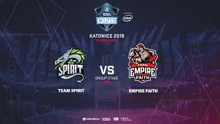 Team Spirit vs Empire Faith, ESL One Katowice, EU Qualifier, bo3, game 2 [Mortalles]