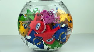 Super Wings Toys and Water Tank