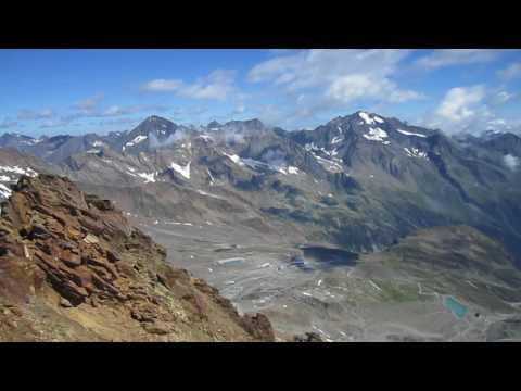 Auf dem Gipfel der Schaufelspitze /Stubai  3.330m (видео)