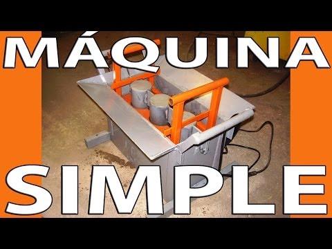 Casero. Máquina simple para la fabricación de bloques de cemento.
