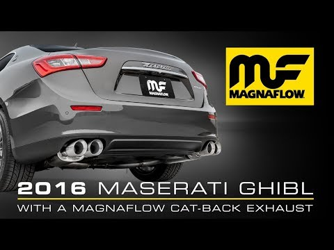 2016 Maserati Ghibli With Magnaflow Cat-Back Exhaust